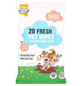 Good Boy Fresh Pet Wipes with Antibacterial Action, 20 pack