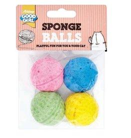 Good Girl Sponge Balls Cat Toy 3.5cm, 4 pack