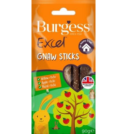 Burgess Excel Apple, Hazel & Willow Gnaw Sticks for Small Animals 90g