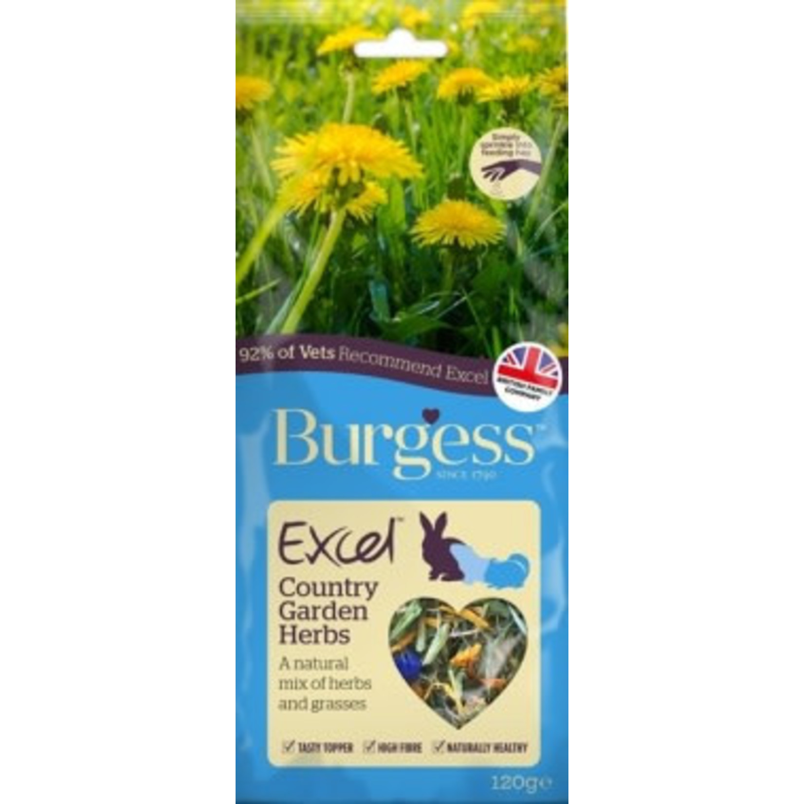 Burgess Excel Country Garden Herbs for Small Animals, 120g
