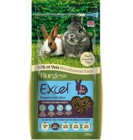 Burgess Excel Rabbit Junior & Dwarf Nugget Food with Mint