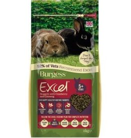 Burgess Excel Rabbit Mature Nugget Food, Cranberry & Ginseng 2kg