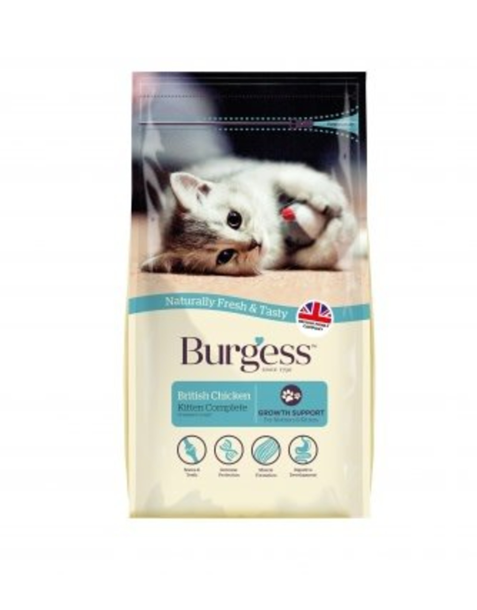 Burgess Kitten Cat Dry Food, Chicken, 1.5kg