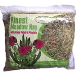 Pure Pastures Finest Meadow Hay with Rose Petal & Plantain 500g