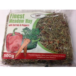 Pure Pastures Finest Meadow Hay with Carrot & Pepper 500g