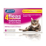 Johnsons Veterinary 4Fleas Tablets for Cats & Kittens, 6 treatment pack