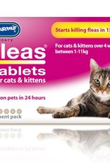 Johnsons 4Fleas Tablets Cats And Kittens, 6 x 11.4 mg Tablets