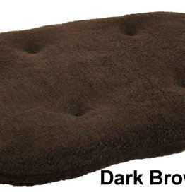 Pets & Leisure Oval Fleece Cushion Pads, Dark Brown