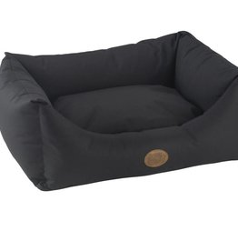 Snug & Cosy Waterproof Pescara Rectangle Bed, Charcoal Black