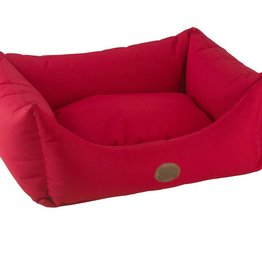 Snug & Cosy Waterproof Pescara Rectangle Dog Bed, Guards Red