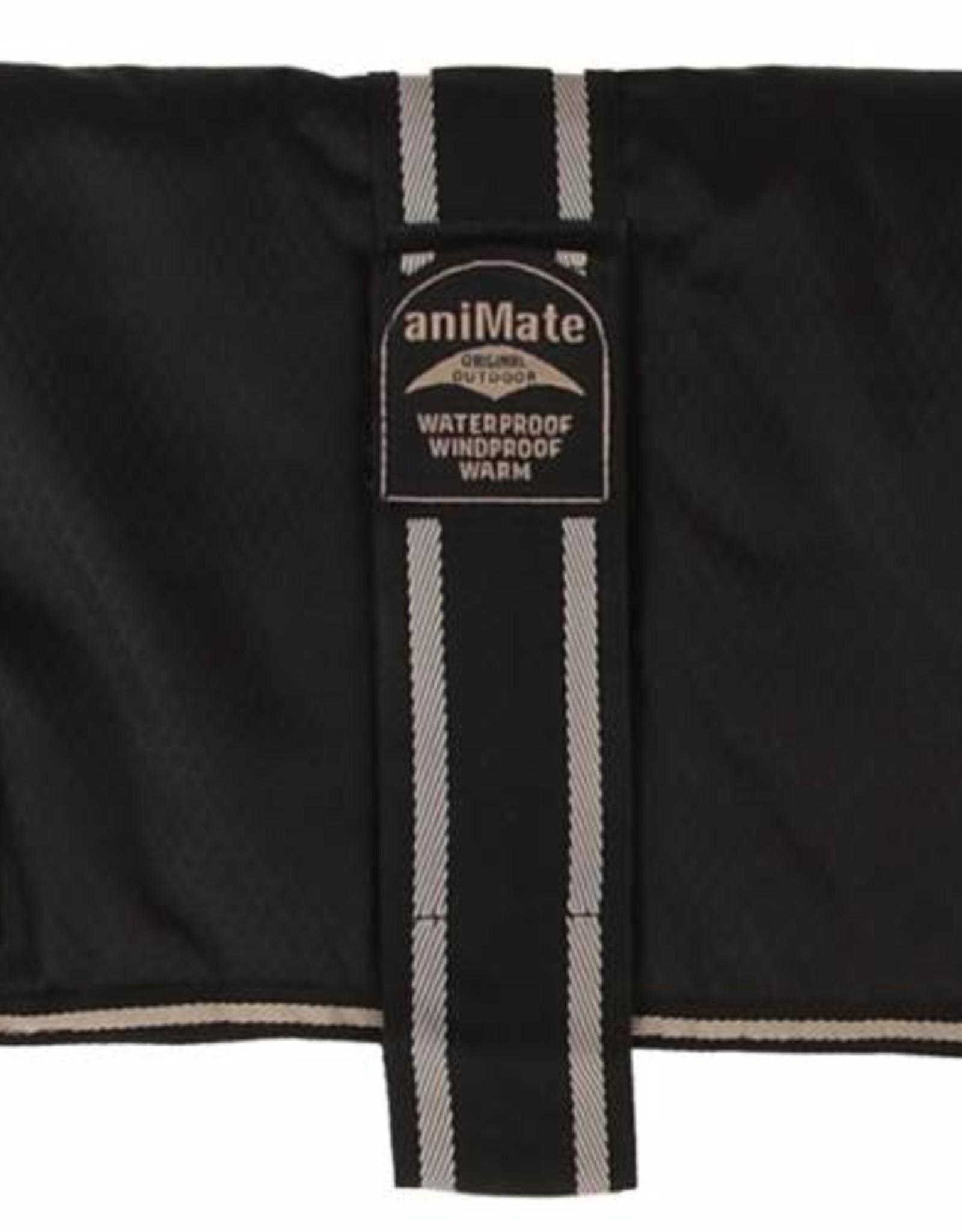 Animate Breathe Comfort Padded Black Dog Coat