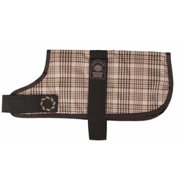 Animate Breathe Comfort Padded Brown Check Dog Coat