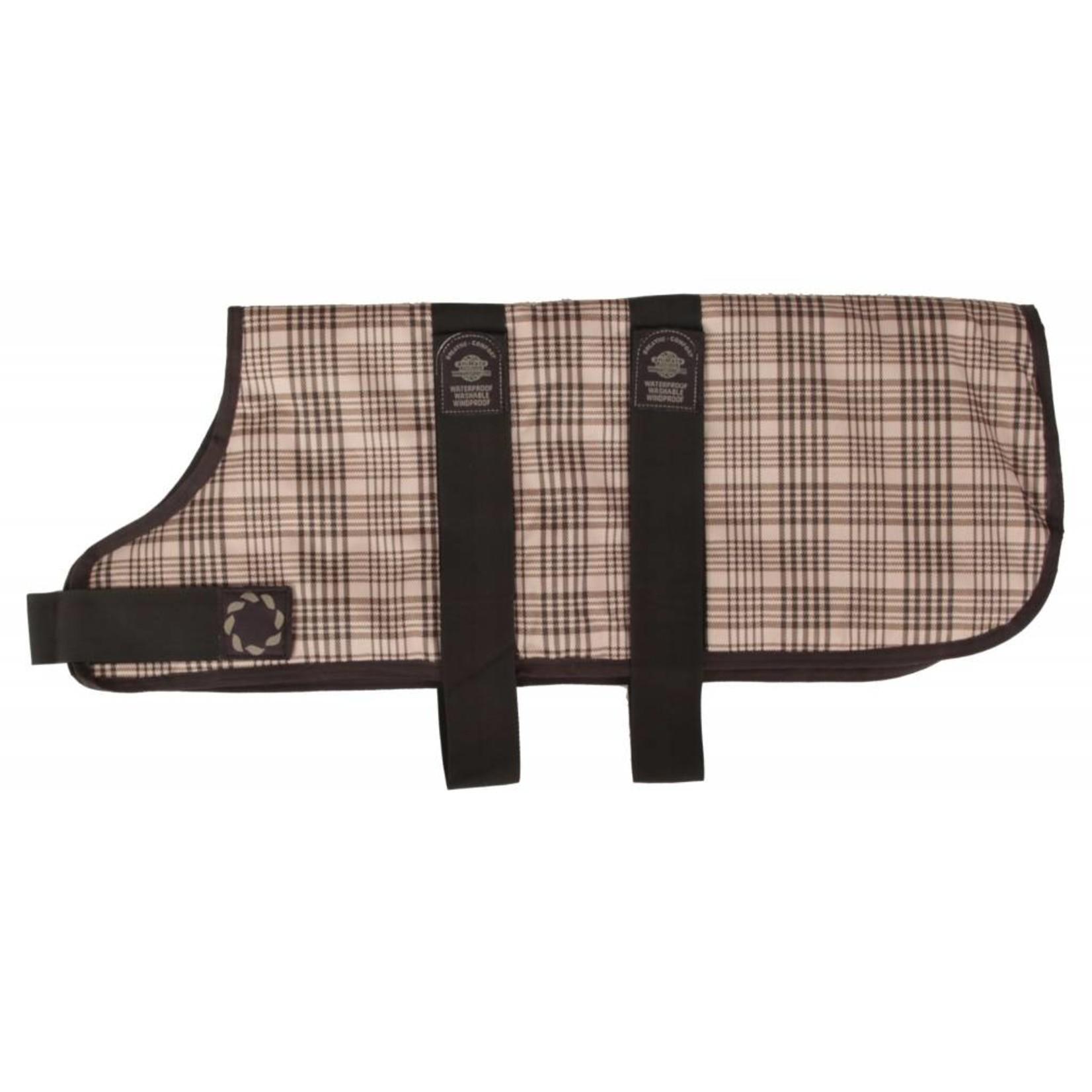 Animate Breathe Comfort Padded Brown Check Dog Coat