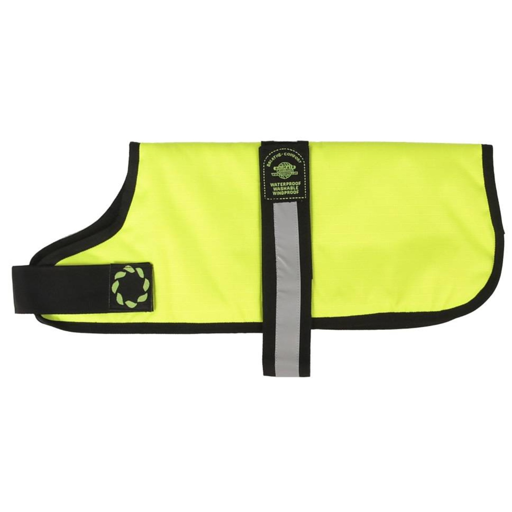 Animate Breathe Comfort Padded Fluorescent Yellow Hi Vis Dog Coat 26inch