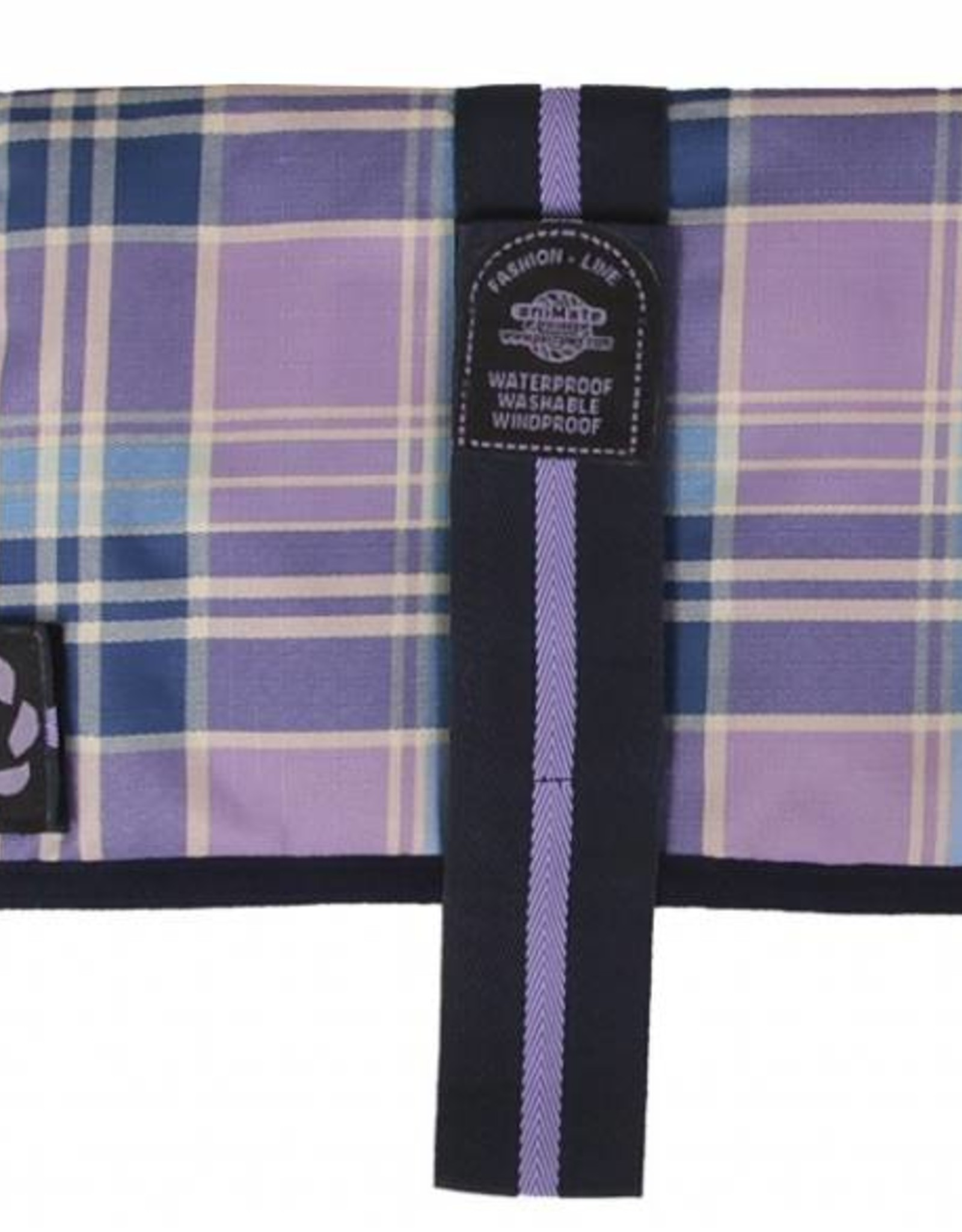 Animate Breathe Comfort Padded Lilac Check Dog Coat