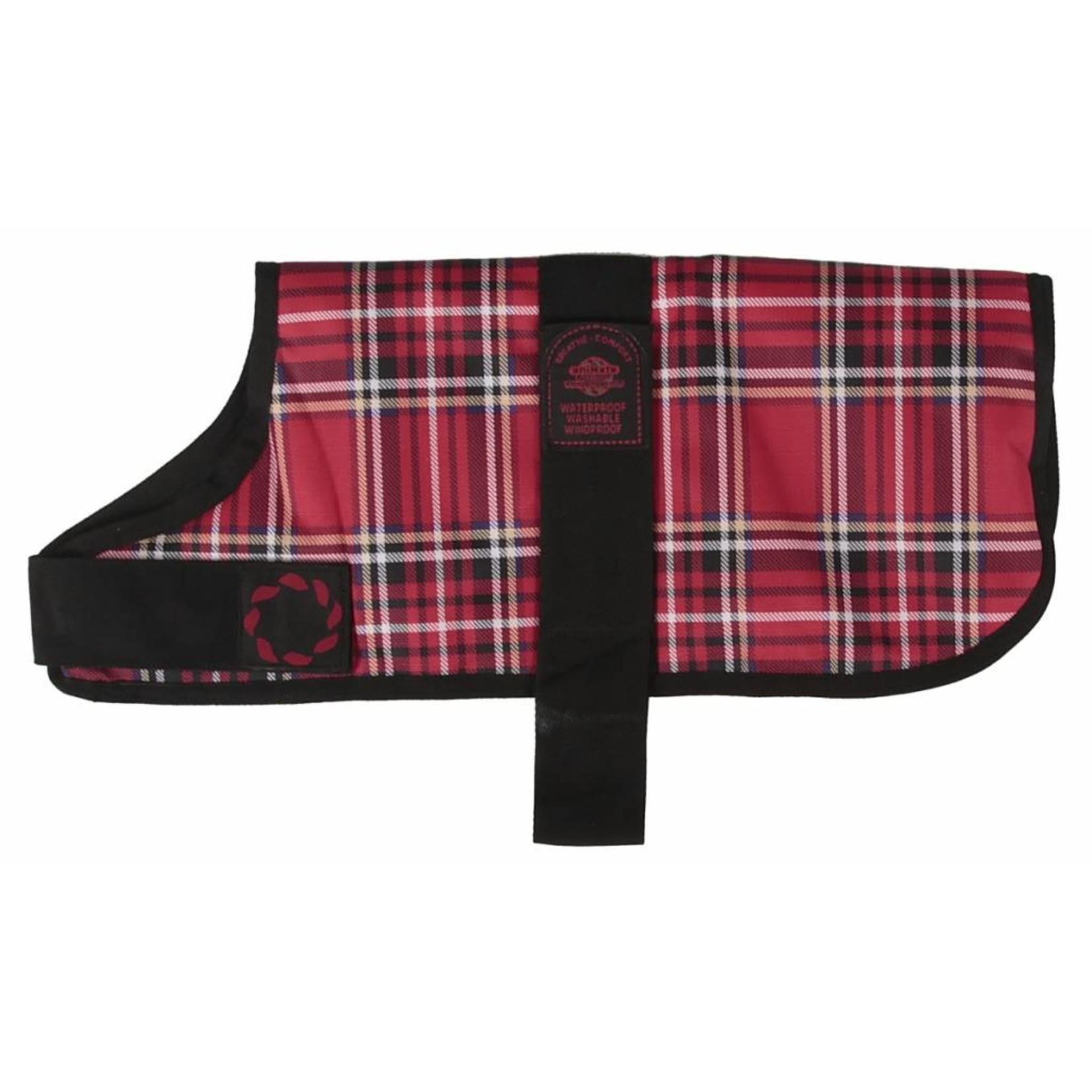 Animate Breathe Comfort Padded Red Tartan Dog Coat