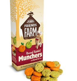 Supreme Tiny Friends Farm Russel Rabbit Munchers with Carrot & PeaTreats 120g