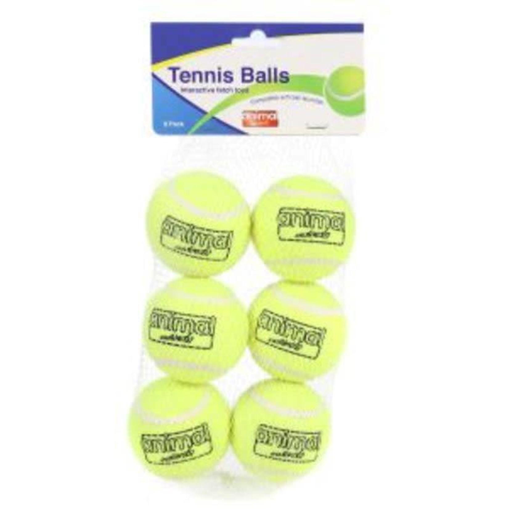 Animal Instincts Tennis Ball Dog Toy, 6 pack