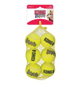 KONG AirDog Squeaker Tennis Ball Dog Toy, Medium, 6 Pack