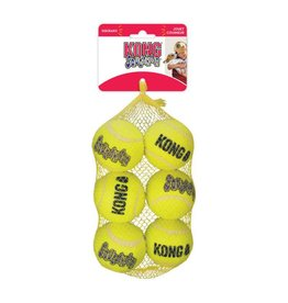 KONG AirDog Squeaker Tennis Ball Dog Toy, Medium, 6 Pack