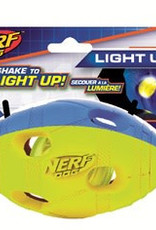 Nerf LED Bash Football Light Up Dog Toy, Medium