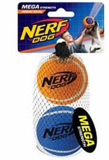 Nerf Dog Mega Strength Tuff Tennis Balls Medium 2 pack