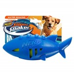 Nerf Super Soaker Shark Rubber Football Dog Toy, 18cm