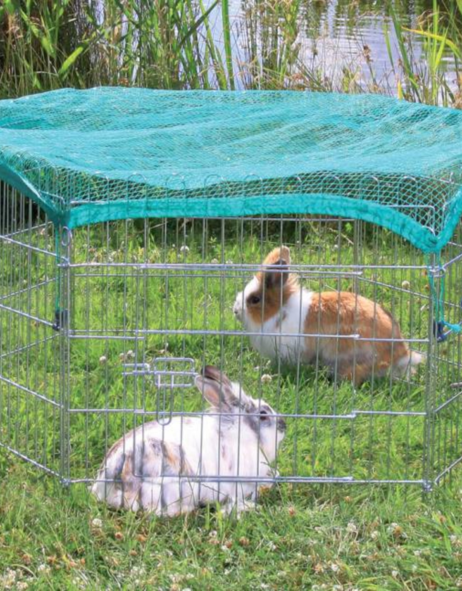 Trixie 6 Panel Outdoor Run with Protective Net 6 x 63 x 60cm