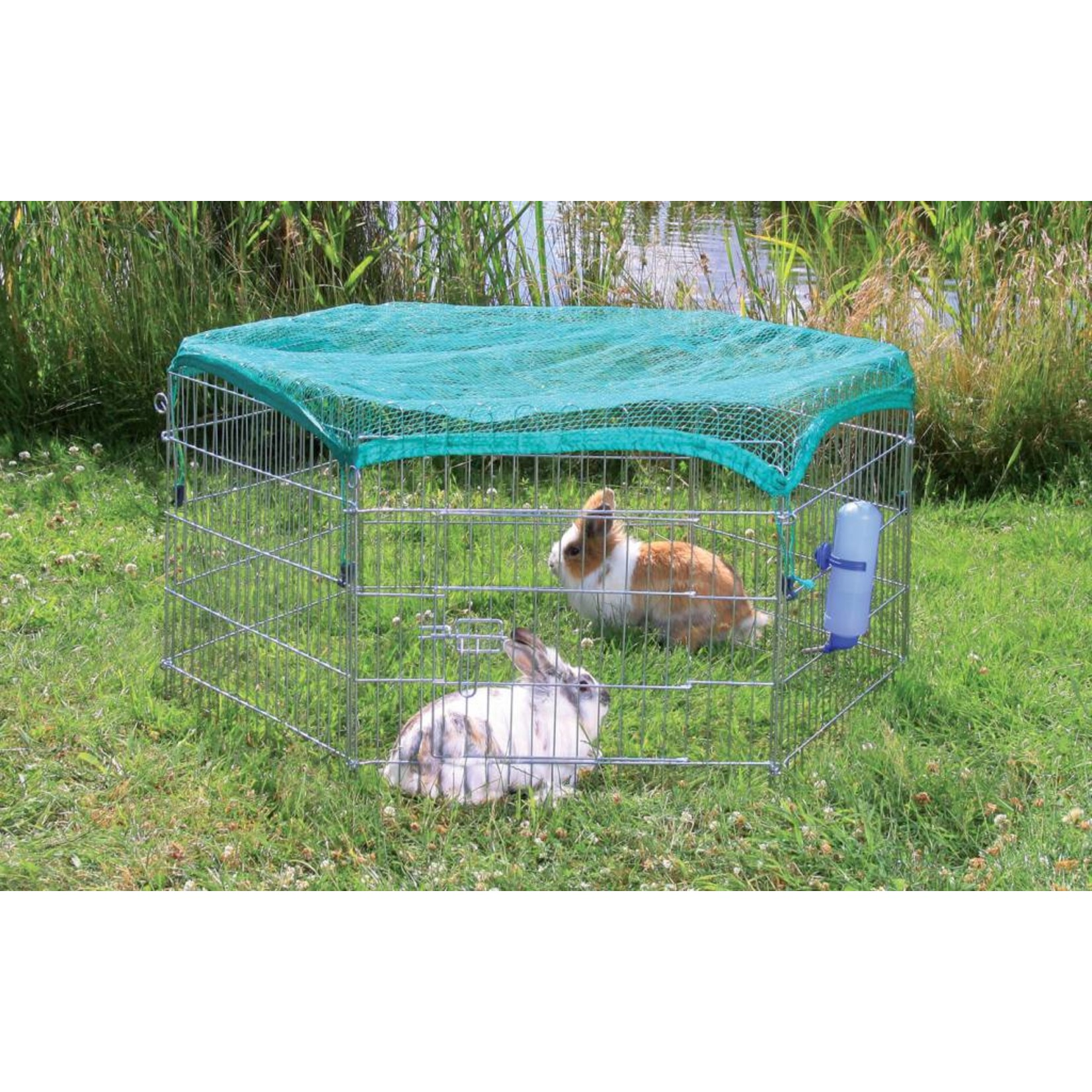 Trixie 6 Panel Outdoor Run with Protective Net, 6 panels of 63 x 60cm