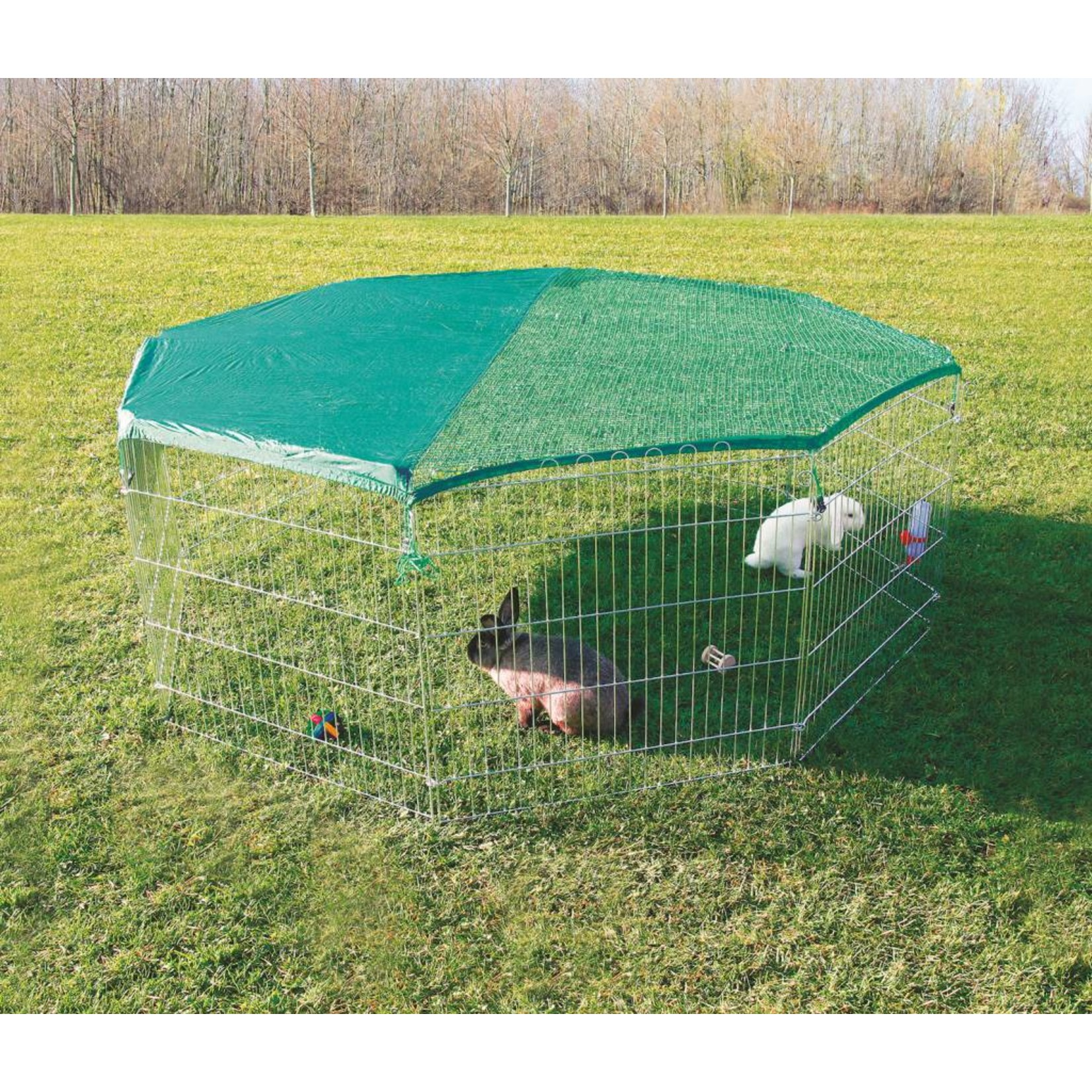 Trixie 8 Panel Outdoor Run with Protective Net, 8 panels of 80 x 75cm