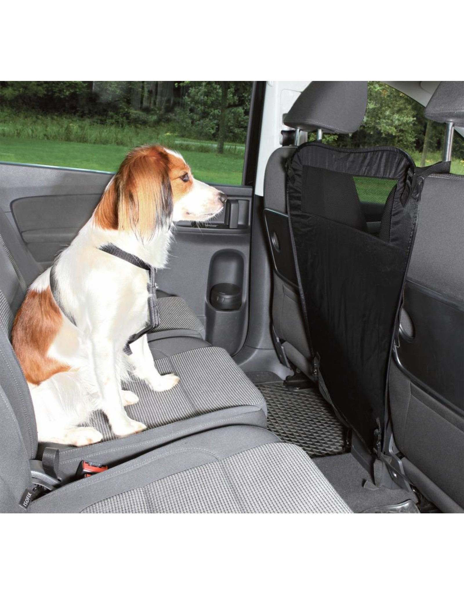 Trixie Car Safety Seat Partition, Foldable Black Nylon, 60/44 x 69cm