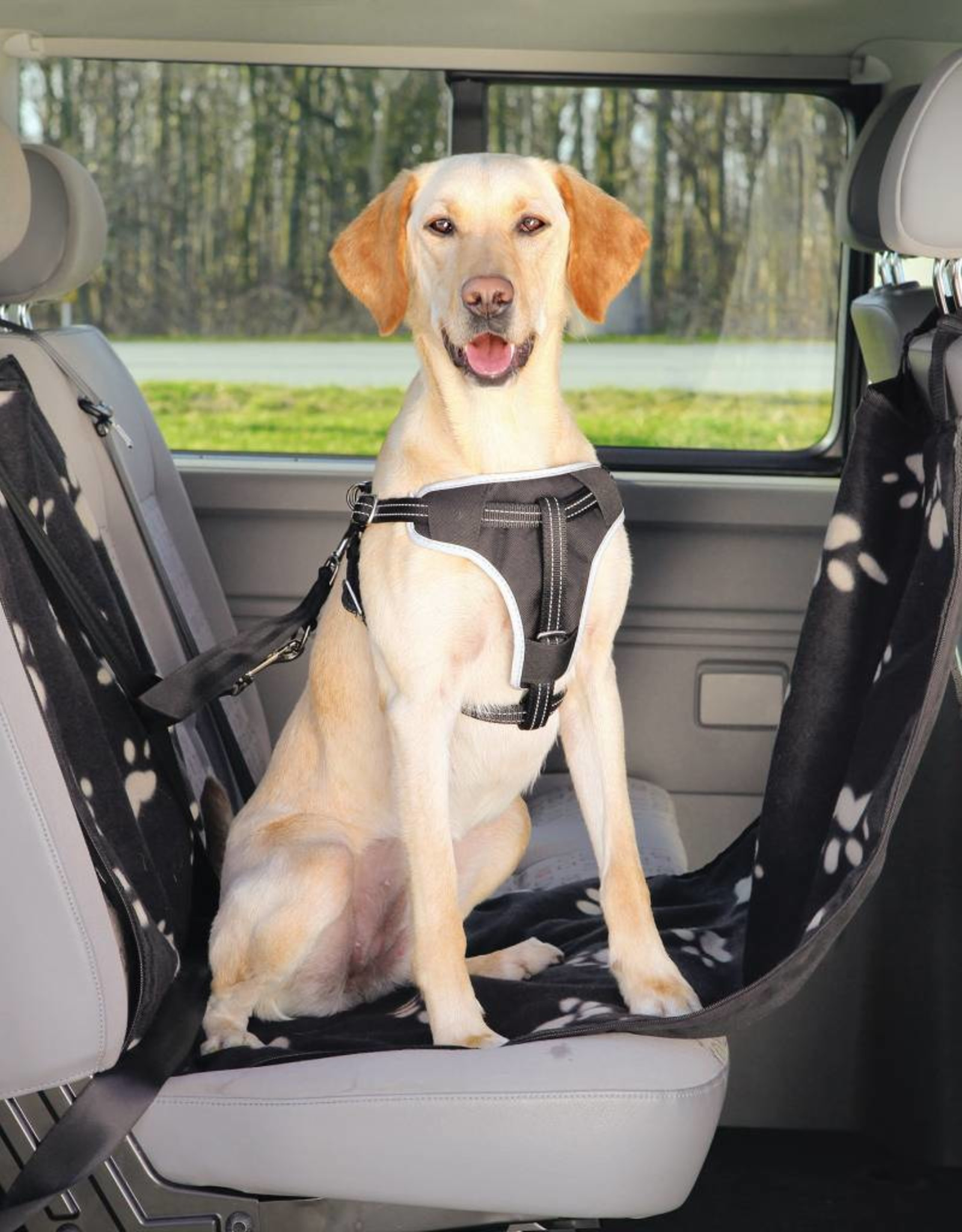 Trixie Protective Car Seat Cover with Sides, Black & Beige, 0.65 x 1.45m