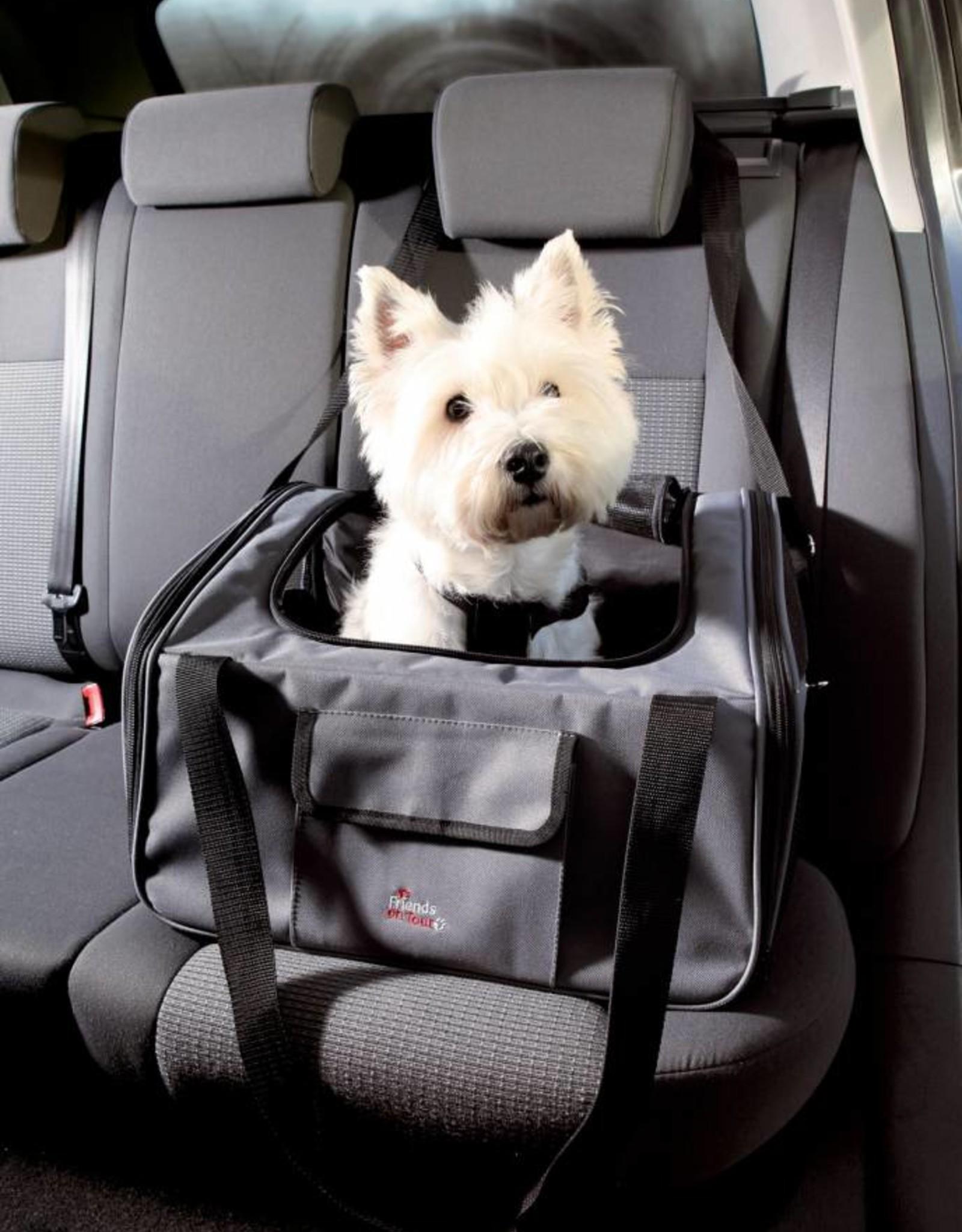 Trixie Car seat, 44 x 30 x 38cm, grey/black