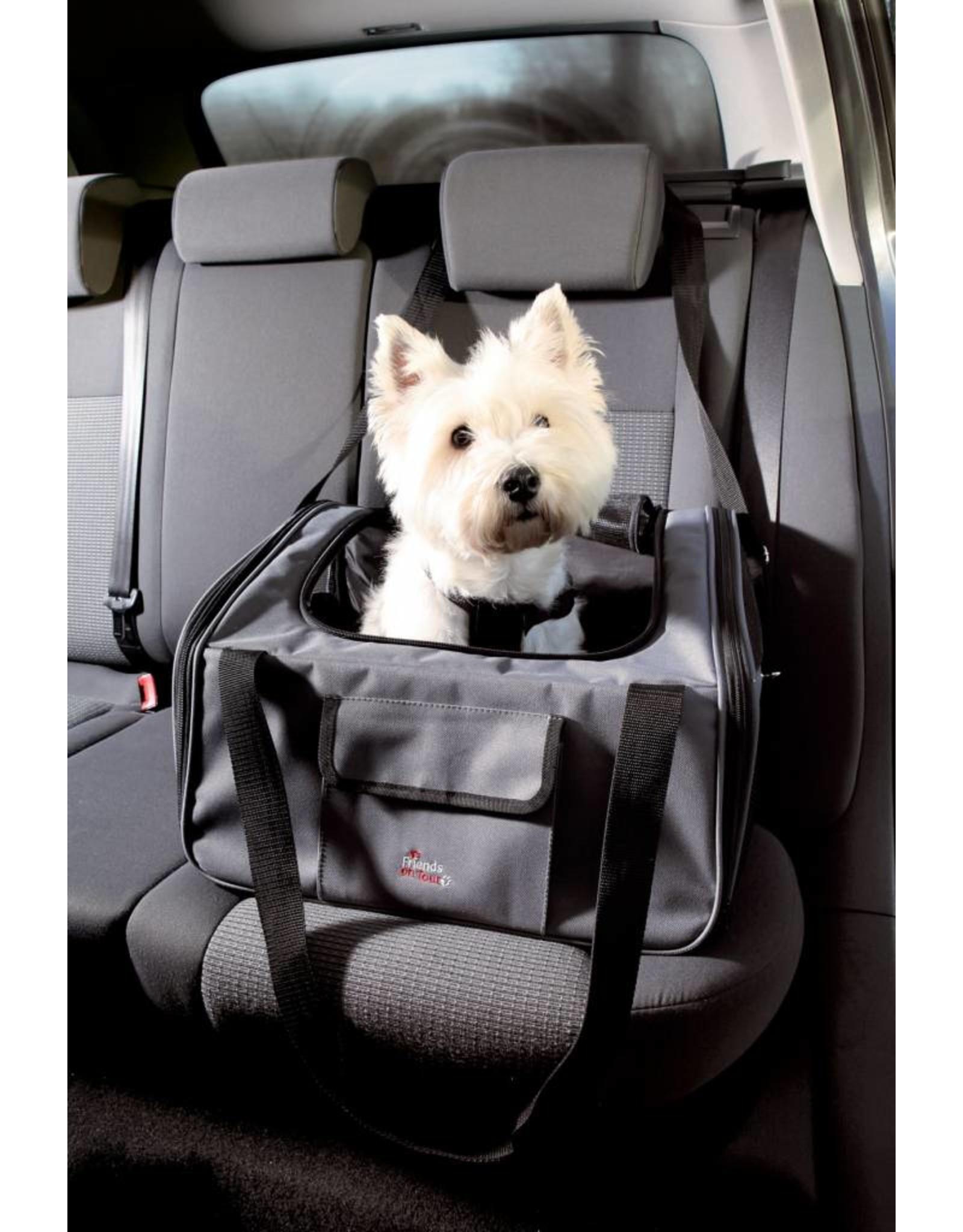 Trixie Car Seat for Pets, Grey & Black, 44 x 30 x 38cm