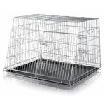 Trixie Galvanised Slanted Transport Crate, 93 x 68 x 79cm