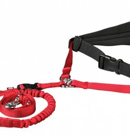 Trixie Waist belt with lead, red, Medium - Large