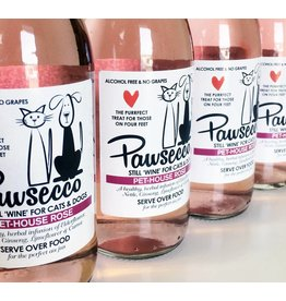 Woof&Brew Pawsecco Rose Wine for Cats and Dogs, 250ml