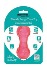 Rosewood Biosafe Puppy Treat Dumbell Pink