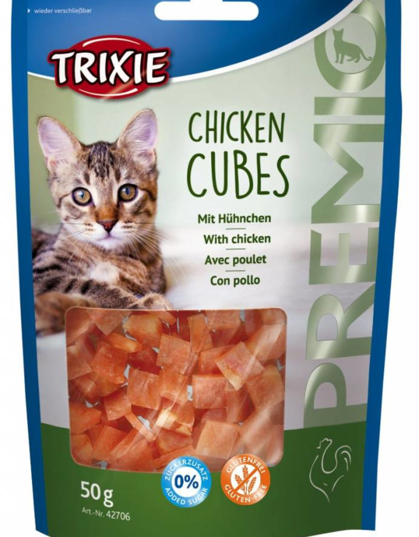 Trixie Chicken Cubes Cat Treats 50g