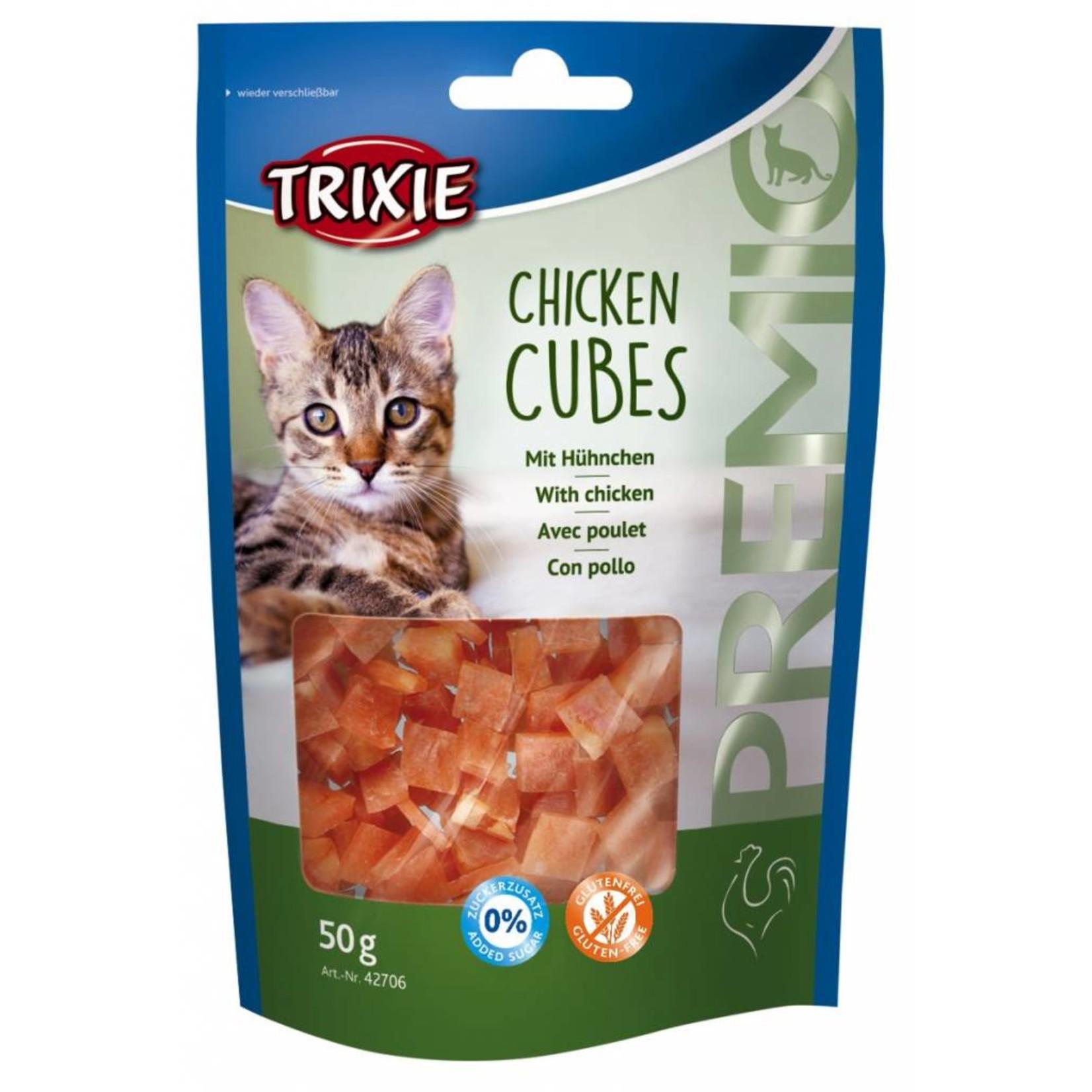 Trixie Chicken Cubes Cat Treats, 50g