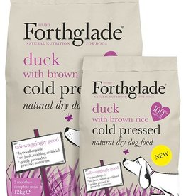 Forthglade Grain Free Cold Pressed Duck with Brown Rice 2 Months + Dry Dog Food