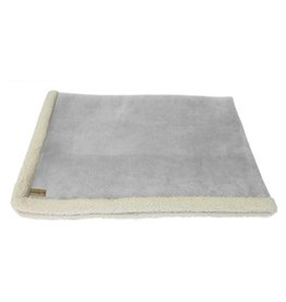 Earthbound Sherpa Pet Blanket, Grey