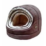 Gor Pets Nordic Hooded Cat Bed Brown