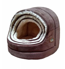 Gor Pets Nordic Hooded Cat Bed Brown