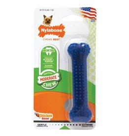 Nylabone Moderate Chew Dental Chicken Dog Chew Toy