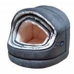 Gor Pets Nordic Hooded Cat Bed Grey