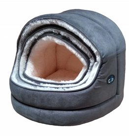 Gor Pets Nordic Hooded Cat Bed Grey