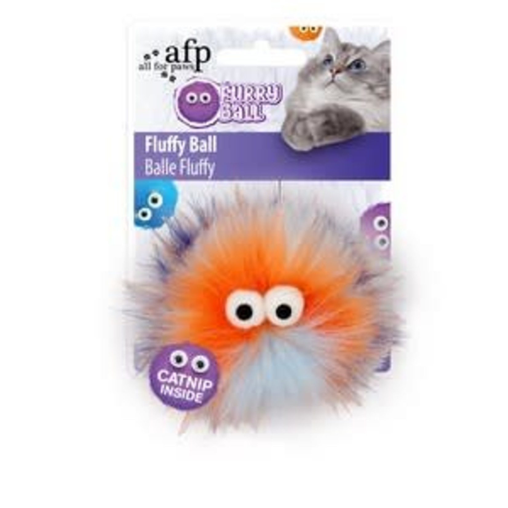 All For Paws Furry Ball Fluffy Ball Cat Toy