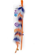 All For Paws Furry Ball Long Fluffy Wand Cat Toy