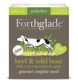 Forthglade Gourmet Grain Free Beef & Wild Boar Adult Wet Dog Food, 395g